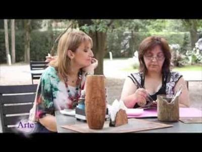 Cómo imitar corteza de árbol con pintura acrilica y cola