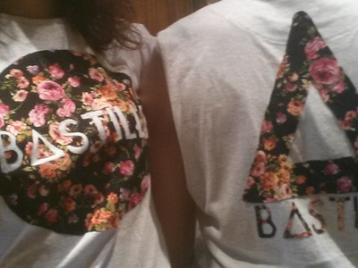 DIY Camiseta Floral. Floral Band T-Shirt MayDIY