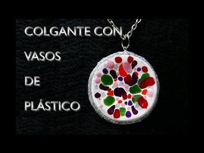 DIY HACER COLGANTE CON VASOS DE PLÁSTICO