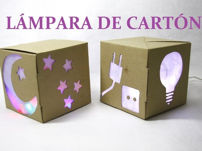 DIY HACER LÁMPARA CON CAJA DE  DE CARTÓN, DIY LAMP WITH CARDBOARD BOX