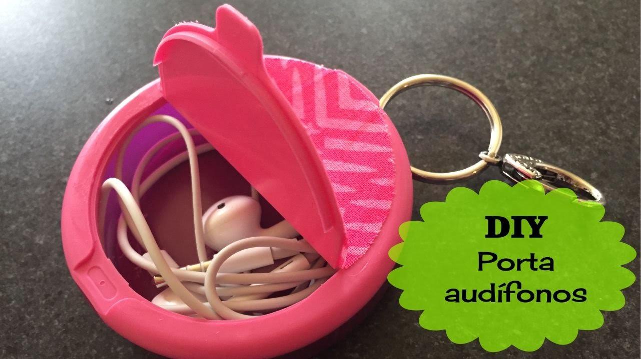 DIY Porta audífonos (hecho con un pastillero)