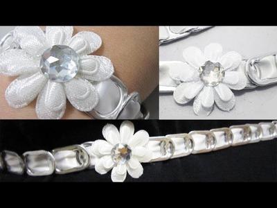 Episodio 616-  Cómo hacer una diadema, correa, collar o gargantilla con anillas de lata recicladas