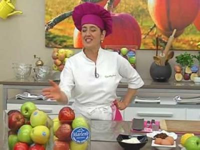 Eva Arguiñano: Hacer bizcocho de manzanas con frutos secos