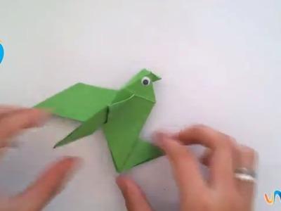 Hacer un pájaro de origami
