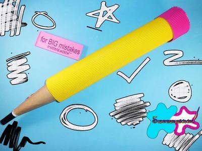 Haz un gran lápiz con papel corrugado para guardar tus cosas ✎SUPERMANUALIDADES✎