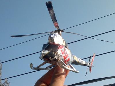 Helicoptero hecho con latas de aluminio tutorial
