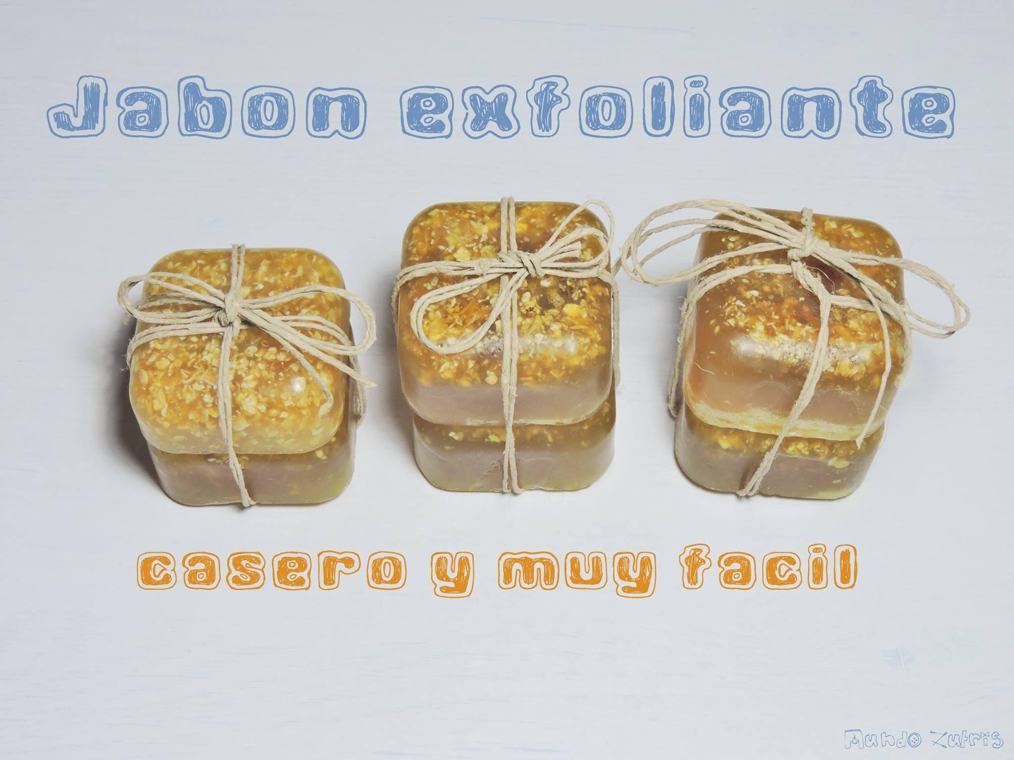 Jabón exfoliante casero - Handmade exfoliating soap