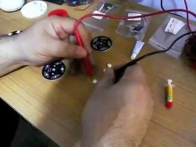 Lampara con LED de alta potencia casera