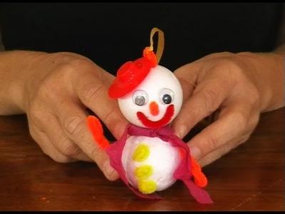 Manualidad de Navidad - Muñeco de nieve - Manualidades para todos