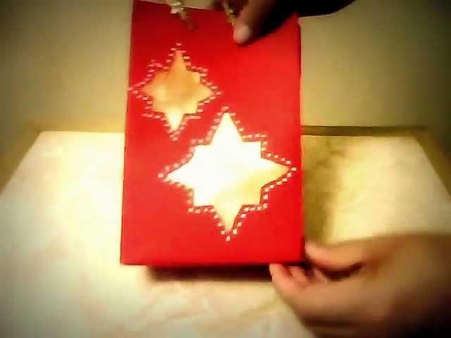 Manualidades navideñas bolsa de regalo pintada