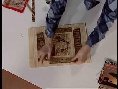 Mirta Biscardi - Bienvenidas TV - Crea en Decoupage un Cuadro Diseño Africano.