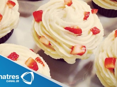 Receta de Cupcakes Napolitanos. Receta de cómo preparar  Cupcakes Napolitanos