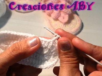 Sandalia Baby en Puntada de Escama   SUELA