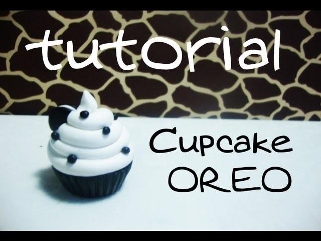 Tutorial Cupcake de Oreo de Arcilla Polimerica.Porcelana en Frio
