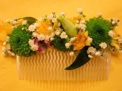 DIY Valentin. Tocado o peineta de flores naturales