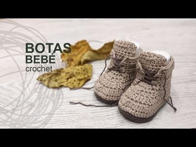 Tutorial Botas Bebé Crochet o Ganchillo en Español