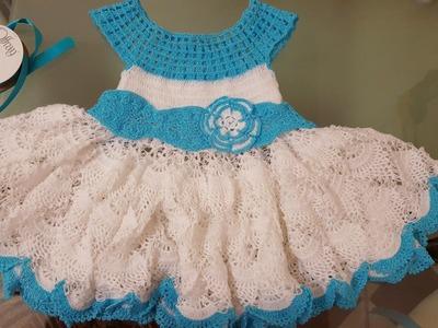 Como tejer vestido en crochet  para niñas #1