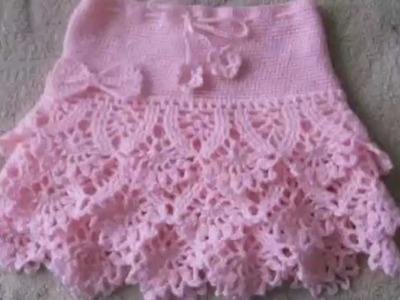 Faldas tejidas a crochet para niñas