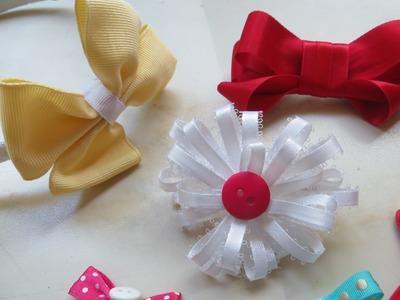 Accesorios para cabello de niñas (flores y moños)