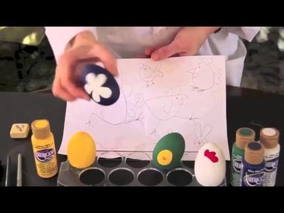 Cesta de huevos de pascua para niños
