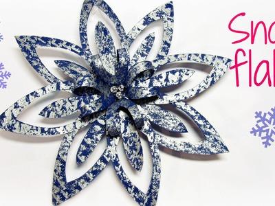 Cómo hacer adornos de Navidad de papel. Christmas ornament.