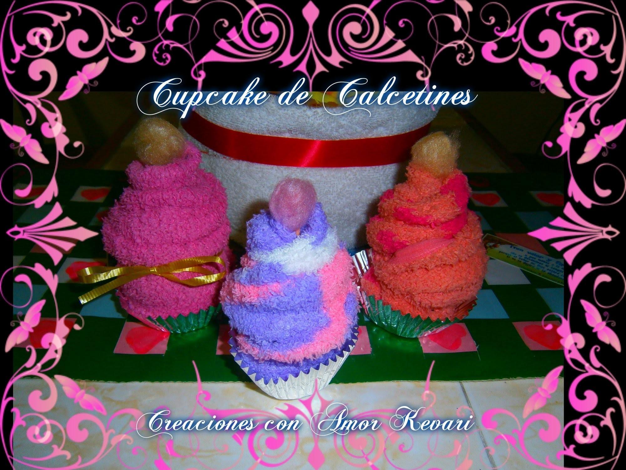 Como Hacer Cupcake de Calcetines。・:*:・゚☆.How to Make a Socks Cupcakes