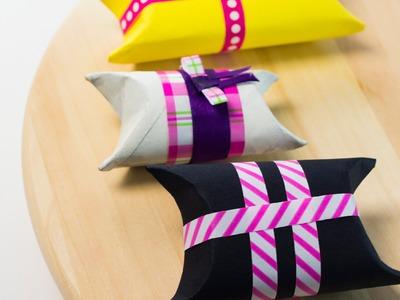 Cómo hacer estuche regalo con rollo de papel