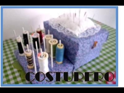 Como hacer un costurero (organizador)