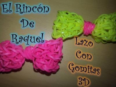 Como hacer un lazo en 3D con gomitas rainbow loom