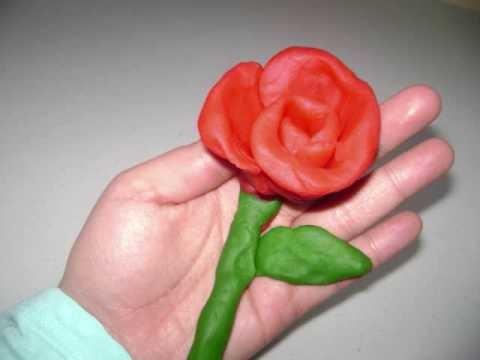 Como hacer una rosa de masilla senci