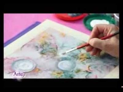 Cómo pintar y decorar prendas de seda artificial