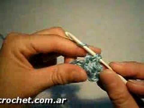 Como tejer el Punto Alto en tejido crochet, tutorial paso a paso.