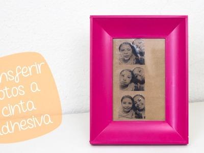 Como transferir fotos a cinta adhesiva y decorar. BigCrafts