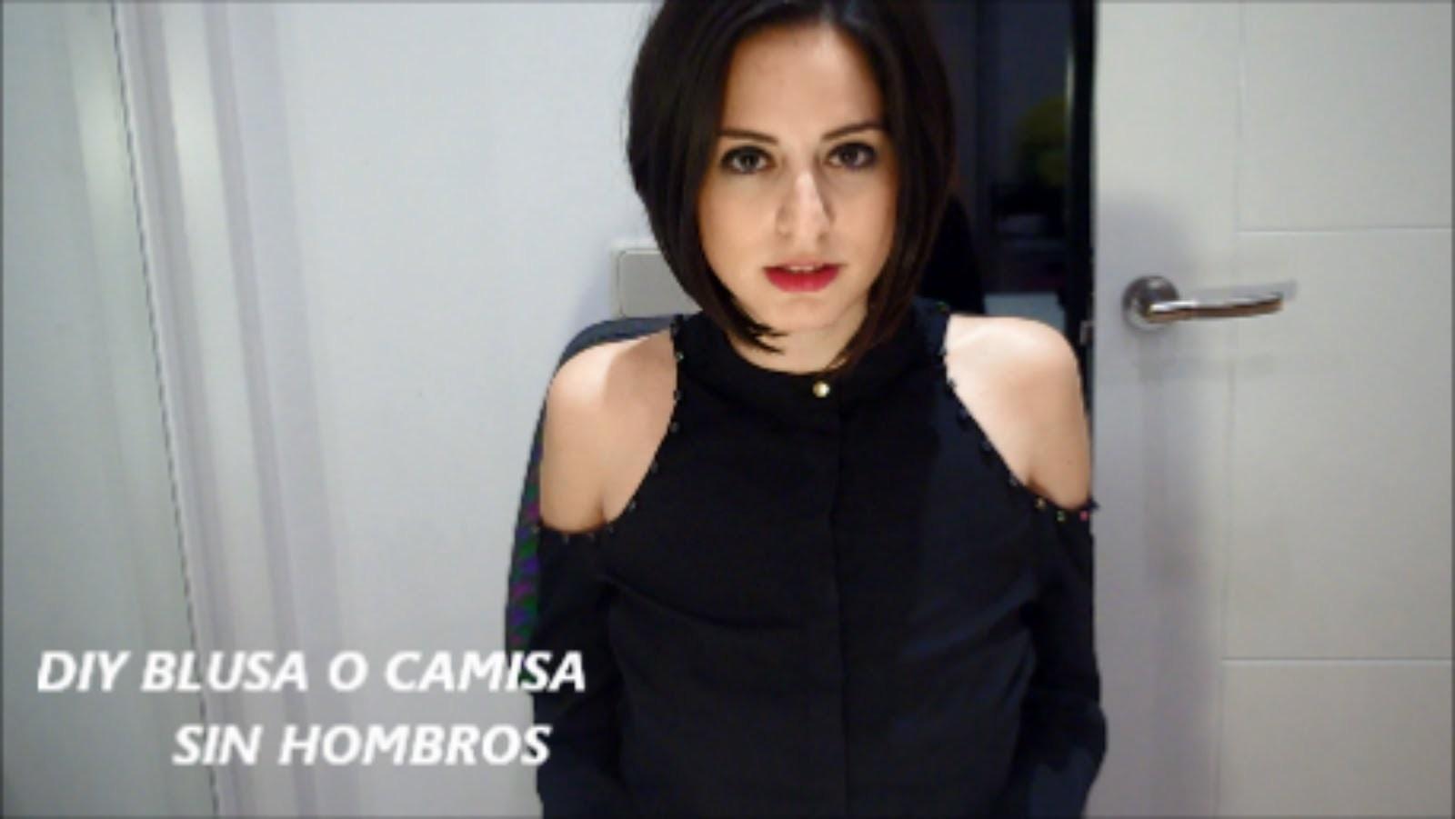 DIY BLUSA O CAMISA DECORADA SIN HOMBROS