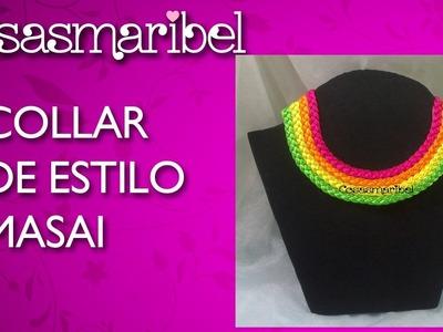 DIY:Como hacer un collar de hilo de colores estilo masai.
