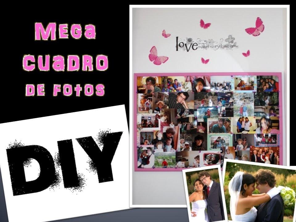 DIY: MEGA CUADRO DE FOTOS (Valentine's Day) PARA REGALAR.
