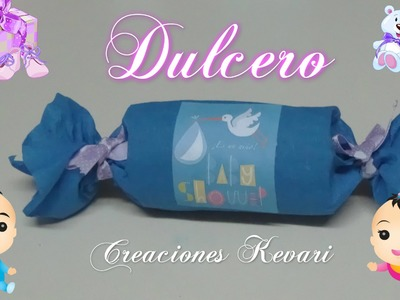 Dulcero para Baby Shower Material reciclado.Candy Bag