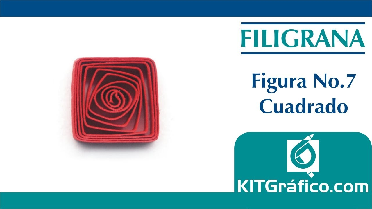 Filigrana (Quilling) figura básica No.7 - Cuadrado - kitgrafico.com