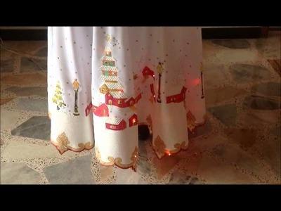 Mantel de navidad con luces