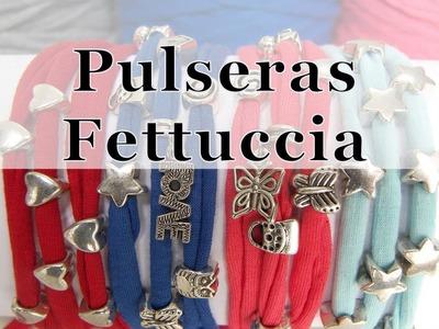 Manualidades DIY - Pulsera de Trapillo y cuentas metalicas (Fetuchas)