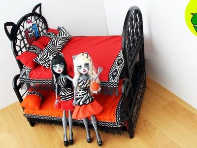 Manualidades para muñecas: litera. cama triple sorpresa  para Meowlody y Purrsephone Werecat