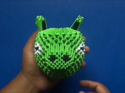 Origami 3D Cerdito malo (Angry birds)