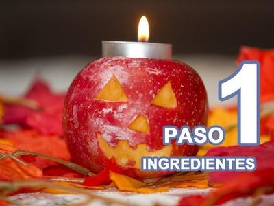 PASO a PASO Como Hacer un Jackolantern de Manzanas por si no tienes Calabazas para Halloween
