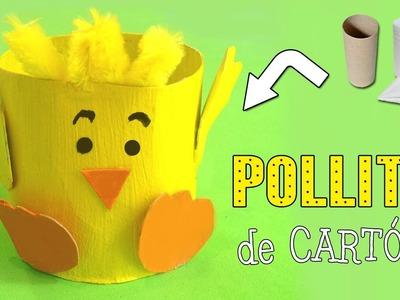 Pollito de cartón | Manualidades con Reciclaje