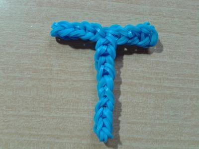 ♥ Tutorial: letra T hecha con gomitas (sin telar) ♥