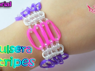 ♥ Tutorial: Pulsera Stripes (sin telar) ♥