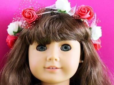 Cómo hacer una corona de flores para tus muñecas - Manualidades para muñecas