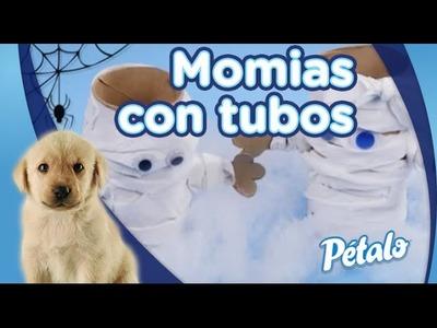 Manualidades - Cómo hacer momias con tubos de cartón.