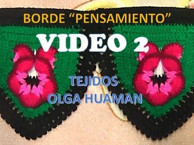 BORDE A CROCHET PASO A PASO  PARA COLCHA PENSAMIENTO VIDEO 2