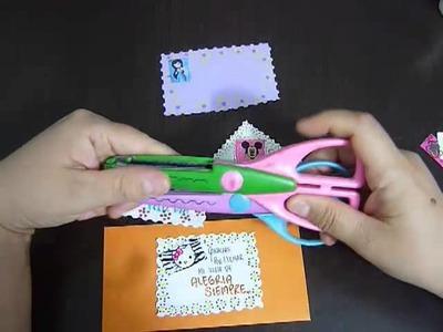 Como hacer una tarjeta de regalo con reciclaje   No.71 Manualidades la Hormiga